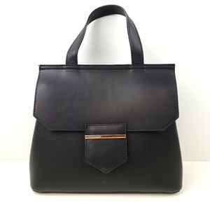 Tano Black Structured Convertible Bag